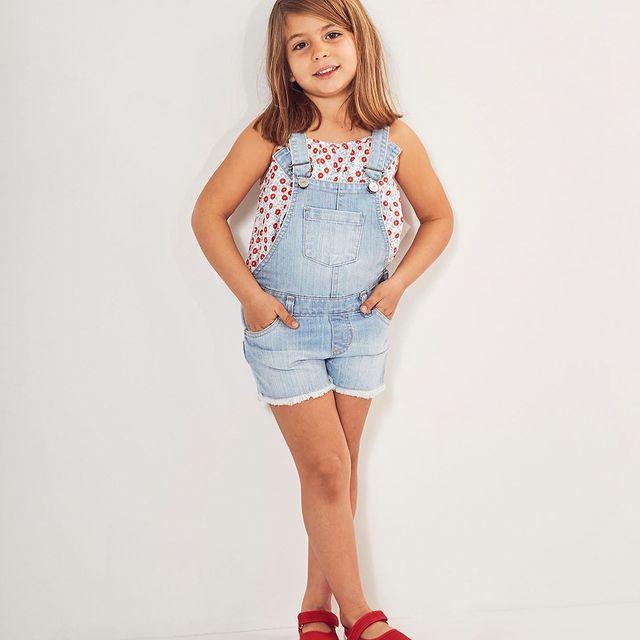 jardinero jeans nena vestido nena cheeky verano 2022
