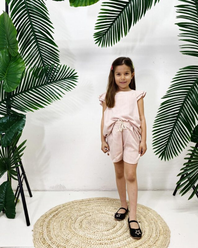 short y blusa conjunto mini Tramps verano 2022