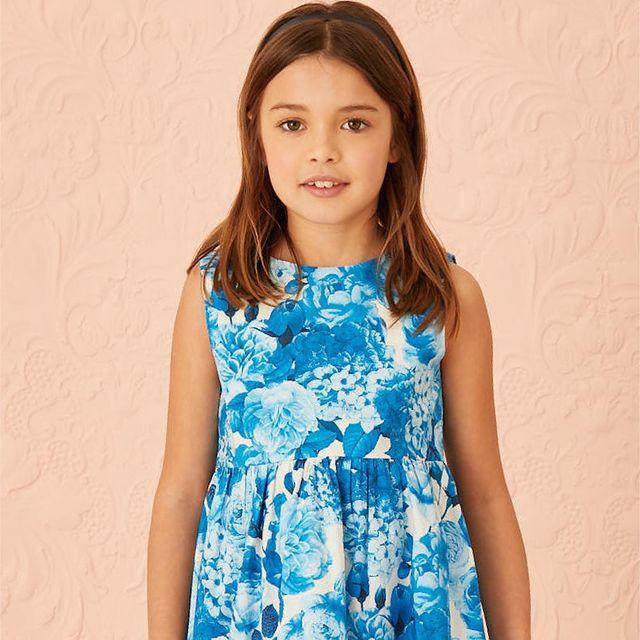 vestido celeste nina little akiabara verano 2022