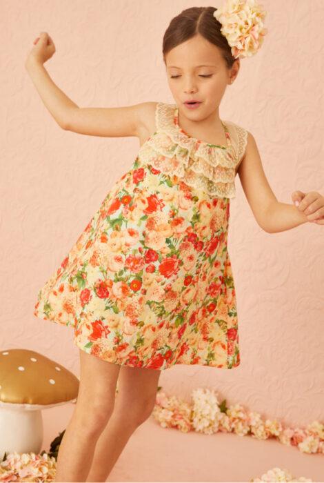 vestido corto estampado nina little akiabara verano 2022