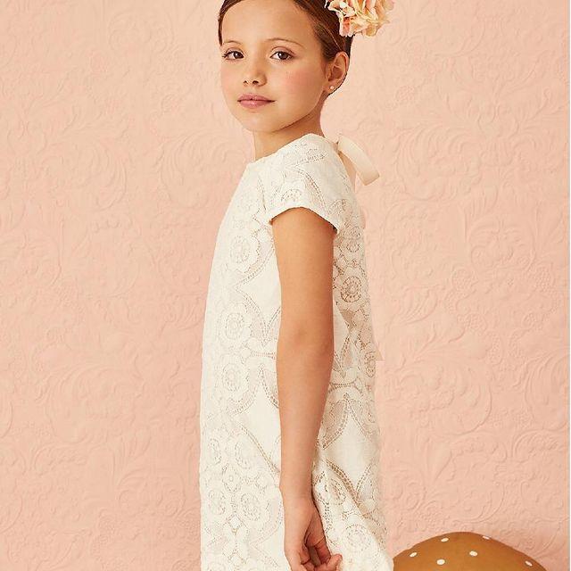vestido encaje nina little akiabara verano 2022