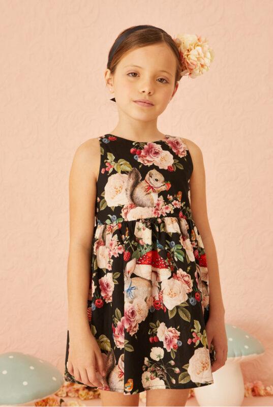 vestido estampado nina little akiabara verano 2022