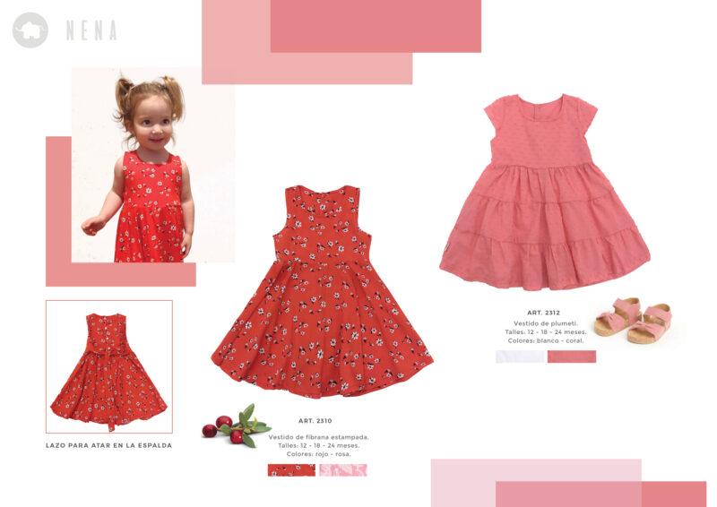 vestido falda plisada beba Pilim verano 2022