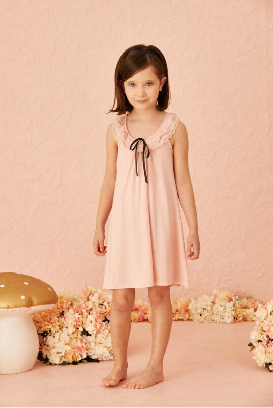 vestido para nina rosa little akiabara verano 2022