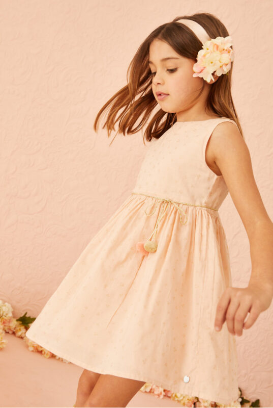 vestidos lindo y sencillo nina little akiabara verano 2022