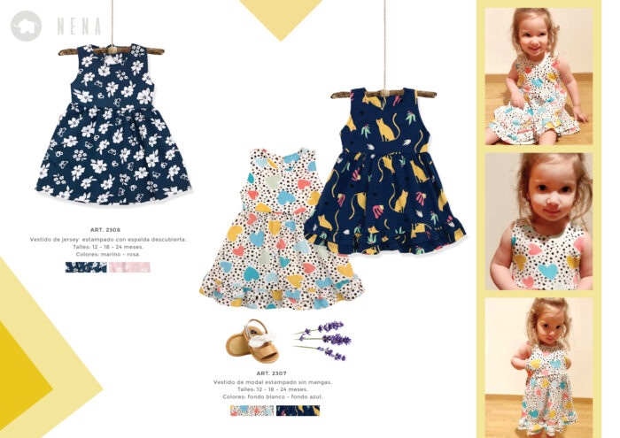 vestidos para bebas estampados Pilim verano 2022