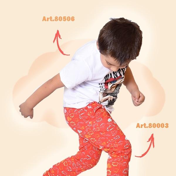 pantalon estampado rustico nino Little Manny verano 2022