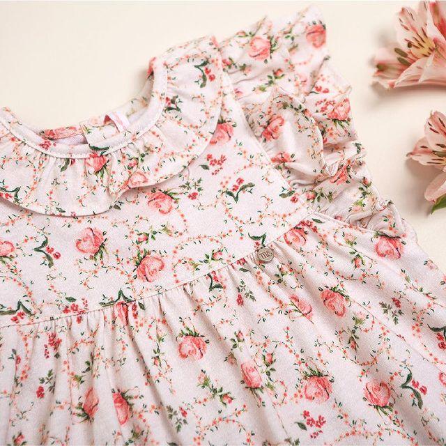 vestido algodon estampado beba magdalena esposito verano 2022