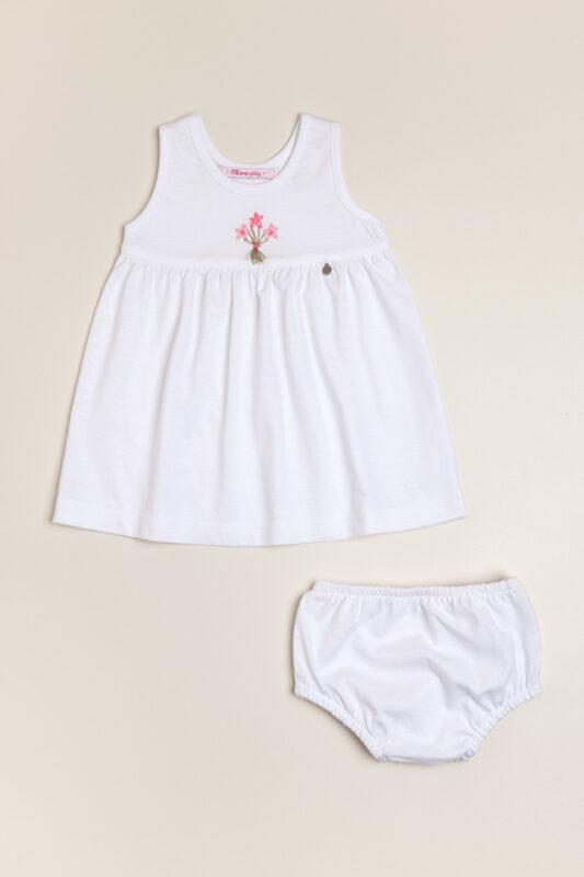 vestido blanco algodon beba magdalena esposito verano 2022