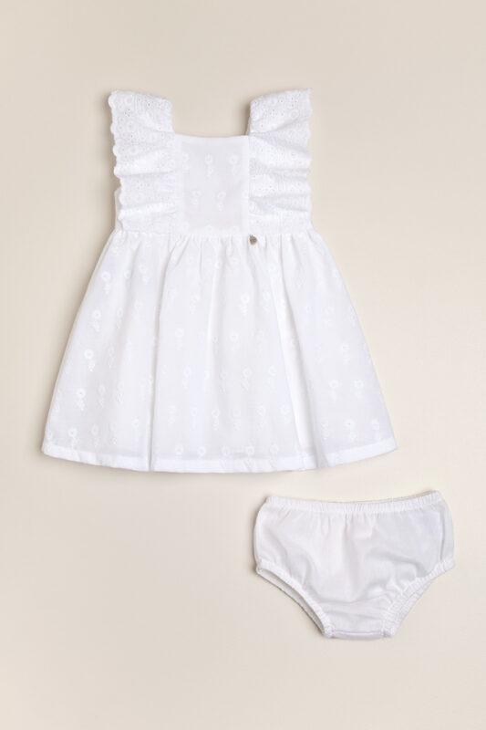 vestido blanco beba magdalena esposito verano 2022